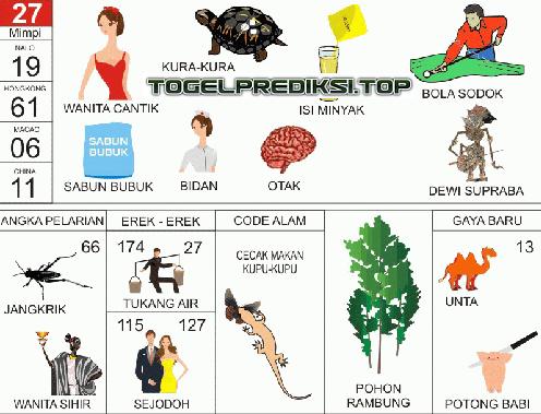 Erek Erek 2D Bergambar Buku Mimpi Togel - Bola & Togel
